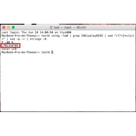 Identifier la référence fabricant de la dalle LCD de votre MacBook