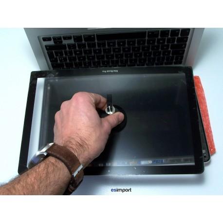 r paration cran cass ou fissure d 39 un macbook 13 pouces unibody a1278. Black Bedroom Furniture Sets. Home Design Ideas